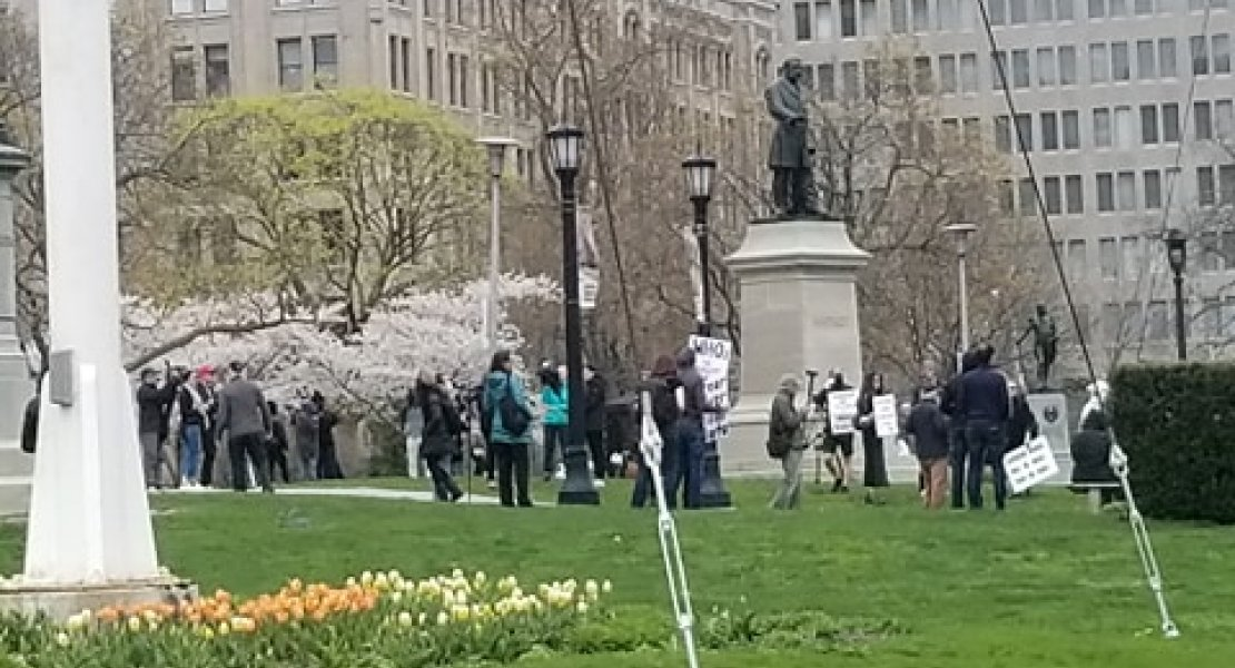 Lockdown Protesters at Queens Park